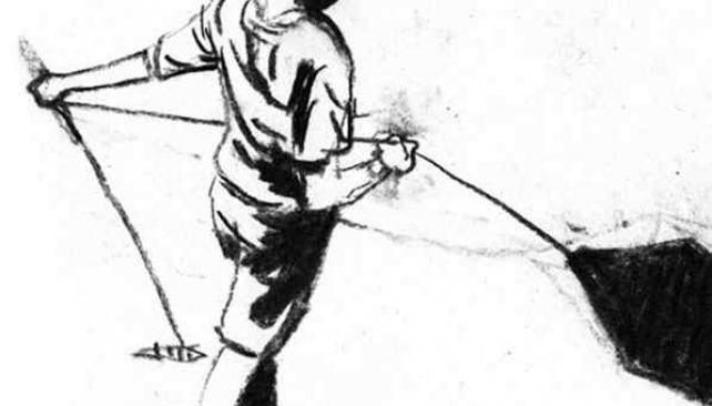"""Ilustración de la historieta """"Otra gente""""."""