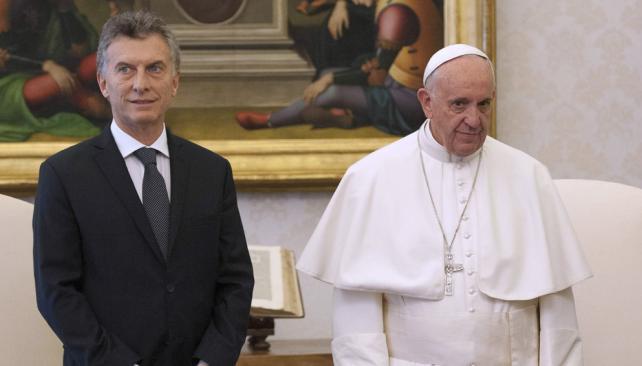 PAPA. Negó cualquier tipo de distanciamiento con Macri (AP / Archivo).