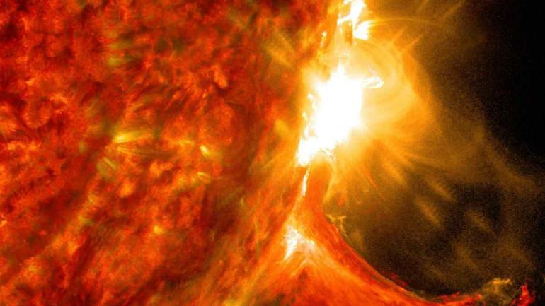 POTENTE. La llamarada solar es un fenómeno normal en nuestra estrella. (Nasa)