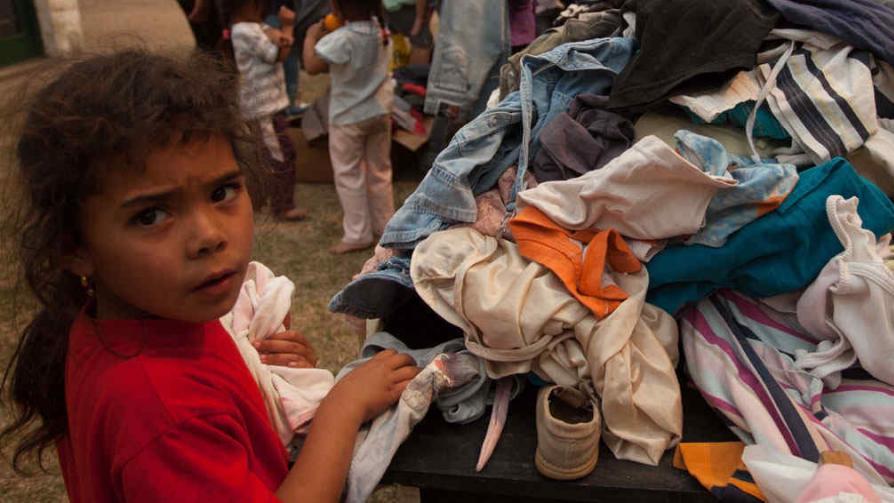 Evacuados. En el camping municipal de Santa Rosa de Calamuchita (La Voz).