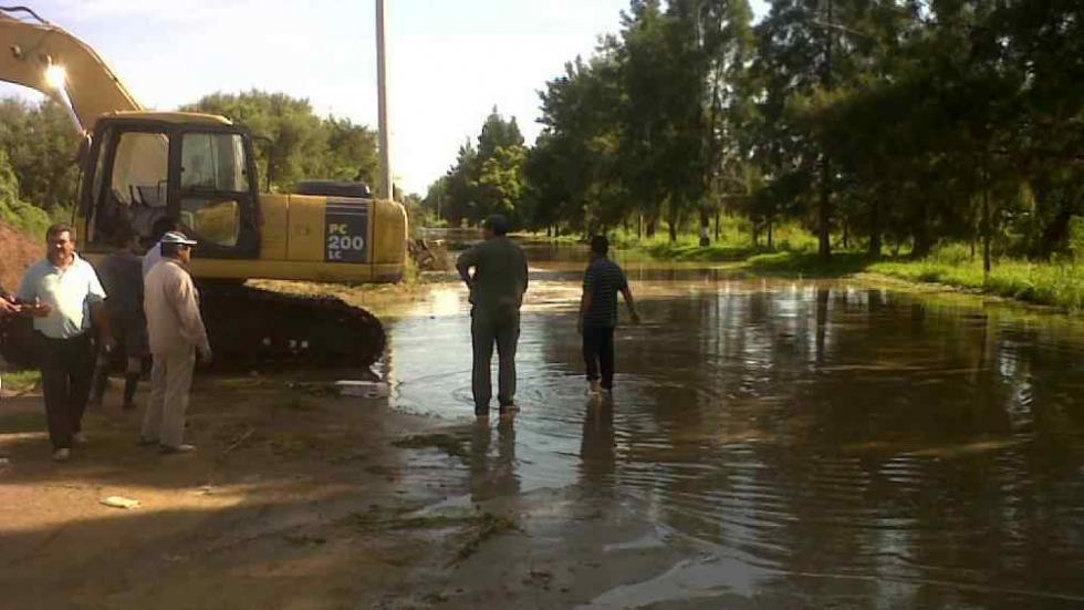 La inundación se agravó durante la noche en Villa María..