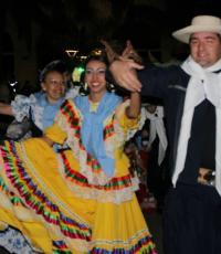 JUNTOS. Igual que el año pasado, todos los grupos de danza de las colectividades se unirán a bailar el pericón nacional. Foto: Aldo Adrián Lucero.